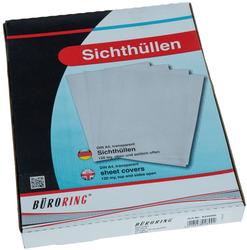 Büroring Aktenhüllen/Sichthüllen genarbt, transparent, SichthülleVE = 1 Packung = 100 Hüllen