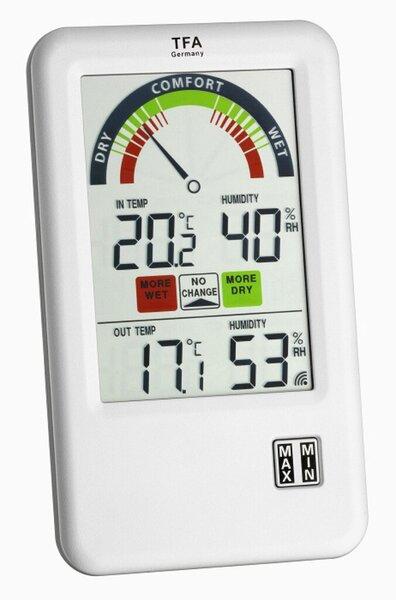 TFA 30.3045.IT BEL-AIR Funk Hygrometer, weiß