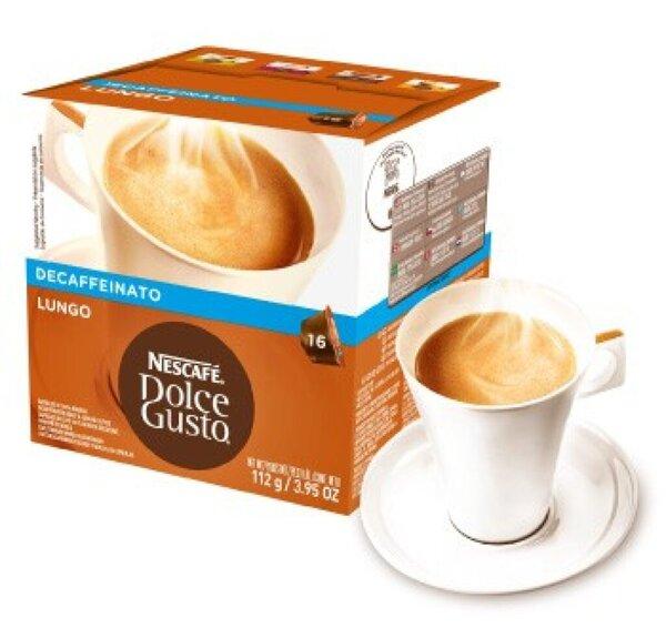 Nescafe Dolce Gusto Caffe Lungo entkoffeiniert, Kapseln