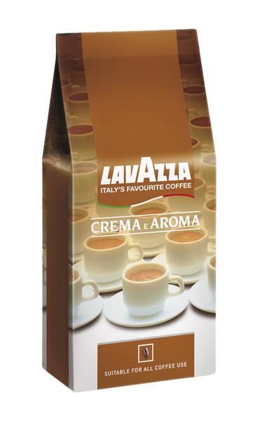 Lavazza Crema E Aroma Röstkaffee ganze Bohnen, kräftig, 1kg