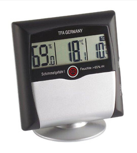TFA 30.5011 Comfort Control Hygrometer schwarz/silber