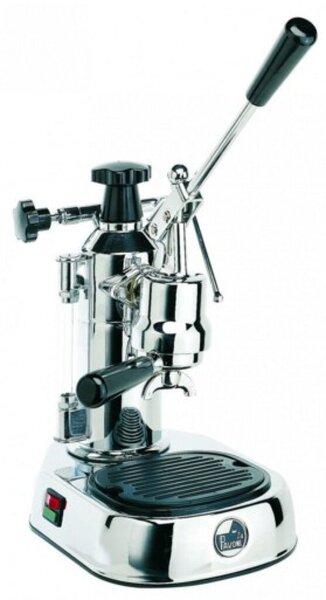 La Pavoni Europiccola Lusso Espressomaschine, silber/rot