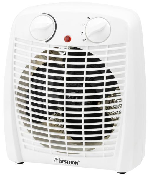 Heizlüfter, 2000W, weiß variabler Thermostat, 4 Stufen