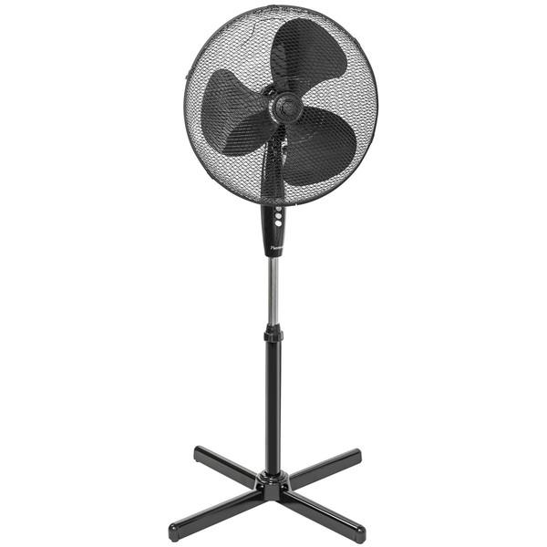 Standventilator Ø 45 cm, schwarz, 40 Watt, 3 Geschwindigkeiten,