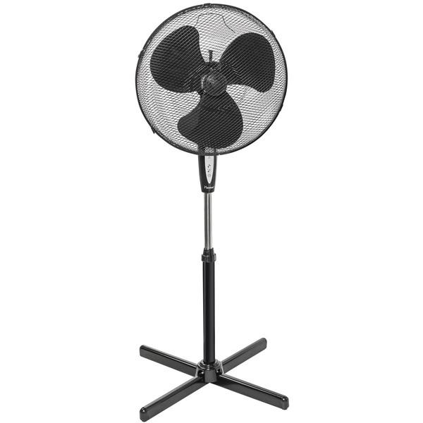 Standventilator mit Fernbedienung Ø 45cm, schwarz, 40 Watt, Zeitschaltuhr,