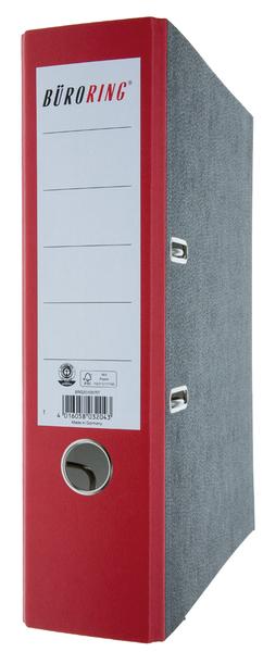 Wolkenmarmor Ordner, A4, Rücken- breite, 80mm, rot