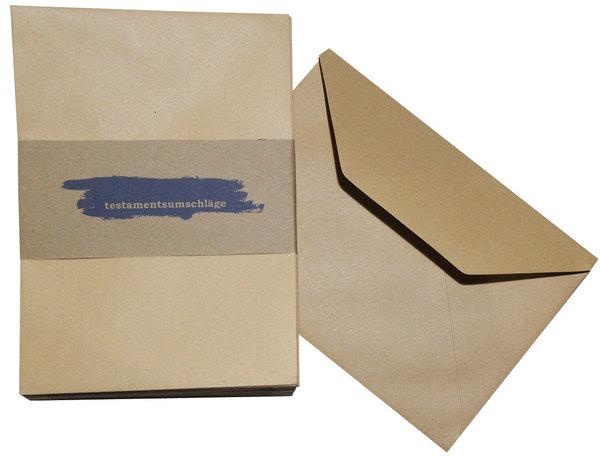 Testamentsumschläge blanko, C5, braun.VE = Pack = 50 Stück