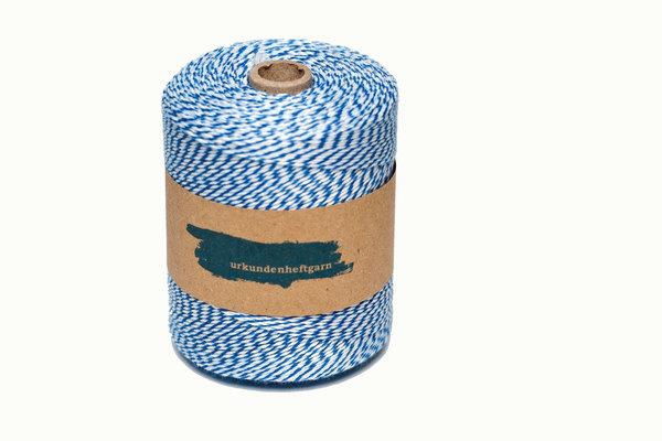 Urkunden-Heftgarn blau/weiß Rolle ca. 360m