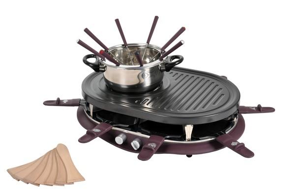 Raclettegrill 4 in 1, Raclette, Grillen, Fondue und Heisser Stein