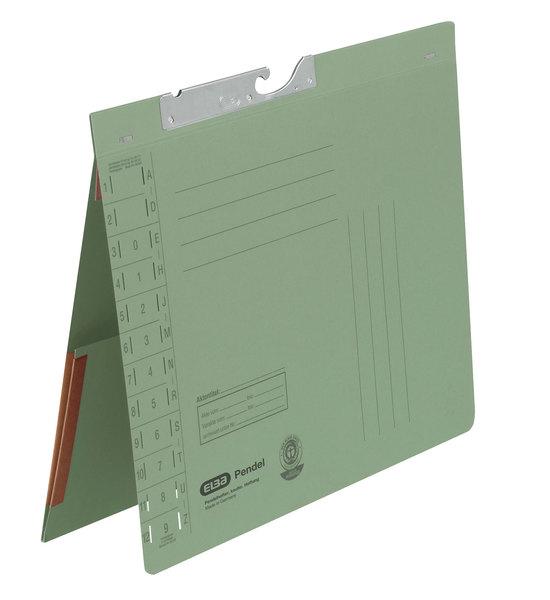 Pendelhefter A4, Amtsheftung, Dehn- tasche, grün, 320 g/qmVE = 50 Stück