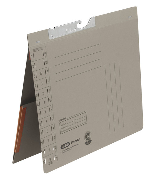 Pendelhefter A4, Amtsheftung, Dehn- tasche, grau, 320 g/qmVE = 50 Stück