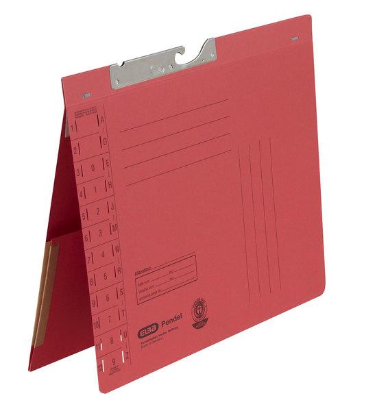 Pendelhefter A4, Amtsheftung, Dehn- tasche, rot, 320 g/qmVE = 50 Stück