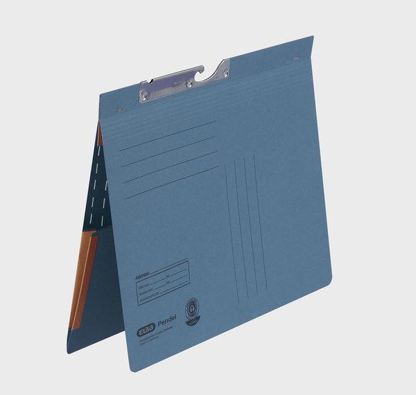 Pendelhefter A4, kfm. Heftung, Dehn- tasche, blau, 320 g/qmVE = 50 Stück