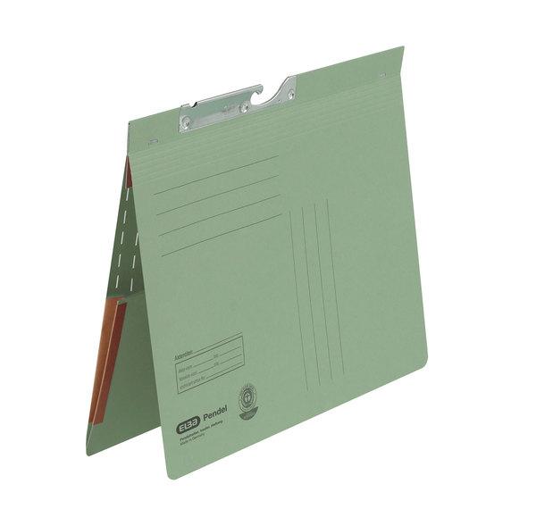 Pendelhefter A4, kfm. Heftung, Dehn- tasche, grün, 320 g/qmVE = 50 Stück