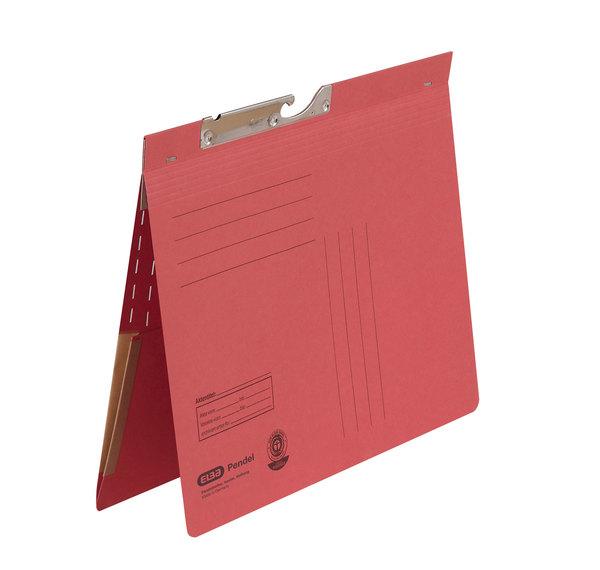 Pendelhefter A4, kfm. Heftung, Dehn- tasche, rot, 320 g/qmVE = 50 Stück