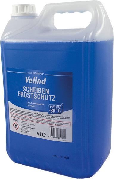 Scheibenfrostschutz Velind, pur bis -30°C, 5 Liter, für Auto Scheiben-VE = 1 Kanister = 5 Liter