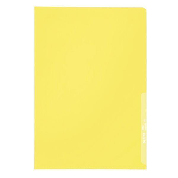 Sichthülle A4 PP 0,13mm gelb KantenschweißnahtVE = 1 Packung = 100 Stück