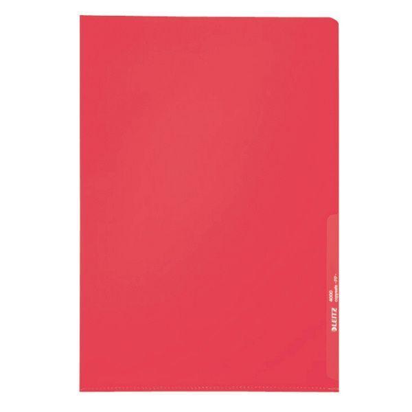 Sichthülle A4 PP 0,13mm rot KantenschweißnahtVE = 1 Packung = 100 Stück