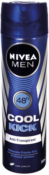 Deodorant Nivea for Men, Cool Kick, Spray, 150 ml