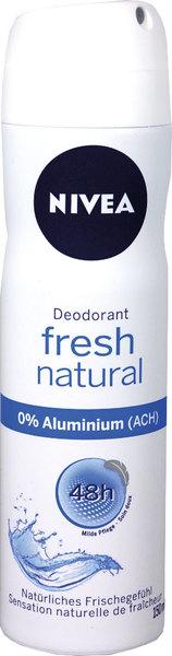 Deodorant Nivea für Frauen, Fresh Natural, Spray, 150 ml, milde Pflege,