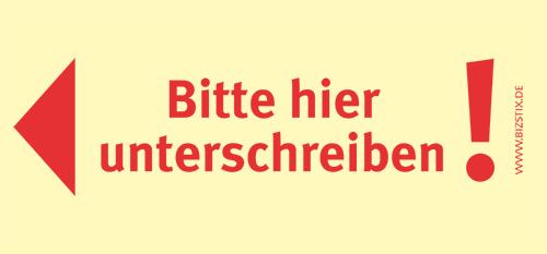 Haftnotizen 75 x 35 mm, gelb Bitte hier UnterschreibenVE = 1 Packung = 5 Blöcke