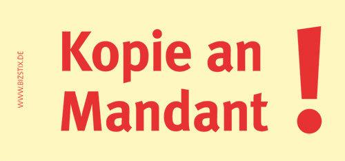Haftnotizen 75 x 35 mm, gelb Kopie an MandantVE = 1 Packung = 5 Blöcke
