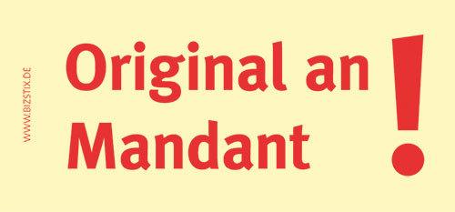 Haftnotizen 75 x 35 mm, gelb Origninal an MandantVE = 1 Packung = 5 Blöcke