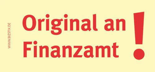 Haftnotizen 75 x 35 mm, gelb Original an FinanzamtVE = 1 Packung = 5 Blöcke