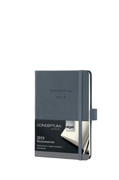 Wochenkalender Conceptum 1W/2S, 2019 108x151x19mm, dark grey