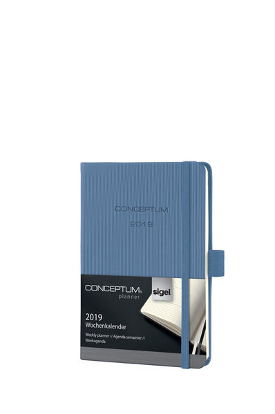 Wochenkalender Conceptum 1W/2S, 2019 108x151x19mm, powder blue