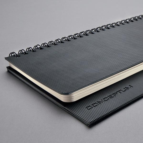 Tischquerkalender Conceptum 1W/2S, 2019 300x143x18mm, schwarz