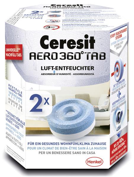 Ceresit AERO 360° Nachfüller 2er Pack 1 Tab wirkt bis zu 3 Mon. bei 20qmVE = 1 Packung = 2 Stück