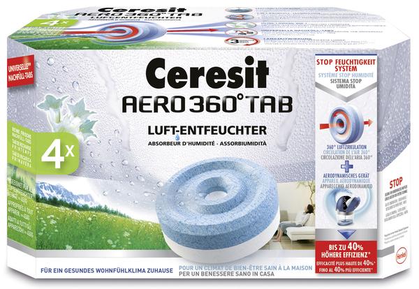 Ceresit AERO 360° Nachfüller Frische 4er Pack, 1 Tab wirkt bis zu 3 Mon.VE = 1 Packung = 4 Stück