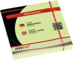 Büroring Haftnotiz FSC 100 Blatt pastellgelb 75x75mm