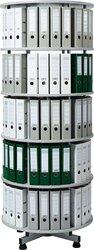 Ordner-Drehsäule 5 Etagen bis zu 120 Ordner, 800 mm x 2030mm Höhe