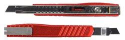 Ecobra Premium-Cutter, Metallgehäuse rot, für 9 mm, 4-Punkt-Arretierung,