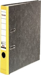 Ordner Wolkenmarmor A4 50mm gelb, farbiger Rücken, Recycling