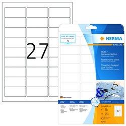 Namensetiketten 63,5 x 29,6 mm, 540 Etiketten, aus Acetatseide, weiß, 27 Stück/Blatt, Packung à 20 Blatt