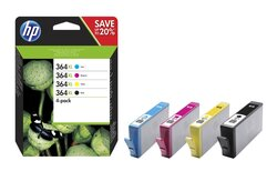 Kombipackung 364 XL für Deskjet 3070, 3520, Photosmart 5510, 5515, 5520,1 VE = 1 Packung á 4 Stück