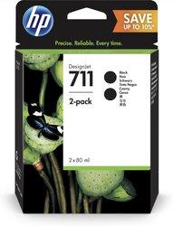 Tintenpatrone 711 schwarz für Designjet T120 ePrinter,VE = 1 Pack à 2 Stück