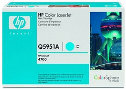 Toner Cartridge 643A cyan für Color LaserJet 4700, 4700N, 4700DN,