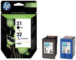 Multipack Tintenpatrone Nr.21/22 schwarz/farbig für Deskjet 39001 VE = 2 Tintenpatronen
