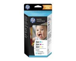 Value Pack 364 für Photosmart D5460, B8550, C6380, 5510, 5514, 5515, 6510,VE = Pack à 3 Tinten + Fotopapier