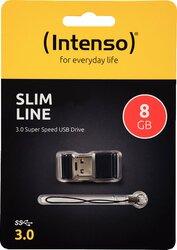 Speicherstick Slim Line USB 3.0 schwarz, Kapazität 8GB