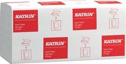 Falthandtuch Katrin Classic ZZ/V-Falz, 4000 Blatt, 2-lagig, weiß 24,4 x 23cm