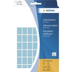 Vielzwecketiketten 12 x 18 mm, 1.792 Etiketten, blau, permanent haftend, für Handbeschriftung , Packung à 32 Blatt