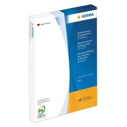 Haftetiketten für Druckmaschinen DP4, 34 x 75 mm, 6.000 Etiketten, weiß, permanent haftend, 24 Stück/Blatt, Packung à 250 Blatt