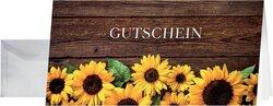 Gutschein-Karten inkl. transparenter Umschläge,Sunfield, GlanzkartonVE = 10 + 10 Stück
