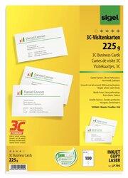 Visitenkarte 3C I+L+K 225g weiß glatter Schnitt rundumVE = 10 Blatt A4 = 100 Karten