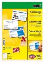 Visitenkarte Multiprint 225g VE = 40 Blatt = 400 Karten